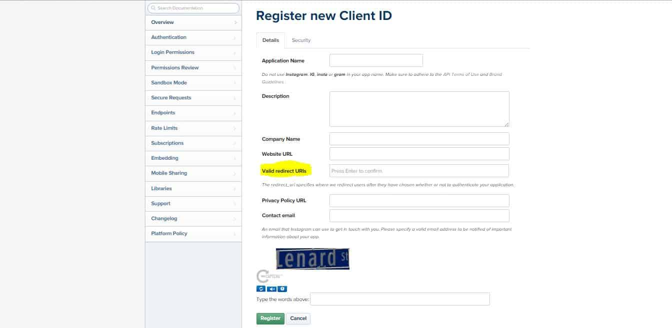 register-new-client-id-